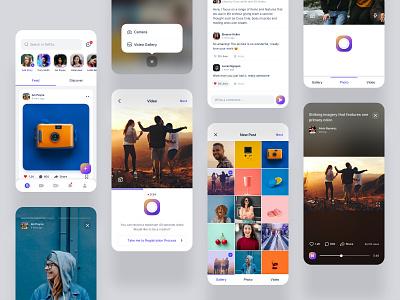 Selfso Mobile App video sharing application video sharing application 24designstudio social apps mobile design interaction interface icon design ux  ui social app minimal clean ui