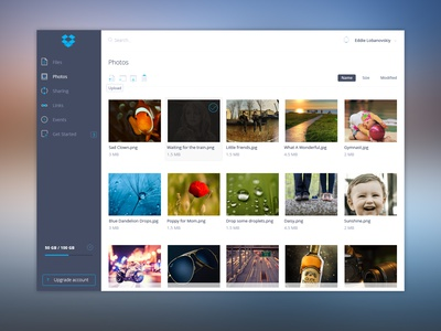 Dropbox UI uiux dashboard agileinfoways photoshop dropbox ui free psd ui kit