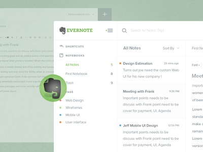 Evernote Dashboard