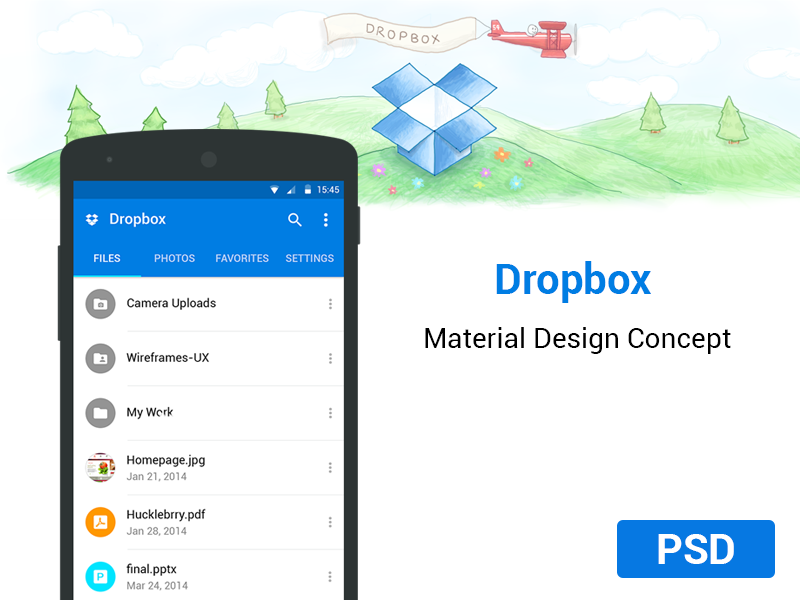 Dropbox App Material Concept uiux agileinfoways photoshop dropbox app redesign android ui icons material design free psd