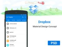 Dropbox App Material Concept