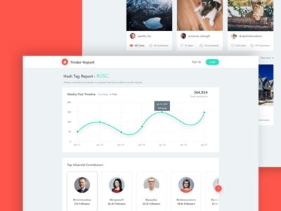 Analytics Page Design analytics page report page tinder ui