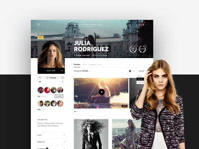 Fashion portfolio sketchapp brewex fashion portfolio ux ui