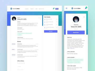 Profile Detail website minimal brewex profile ux ui