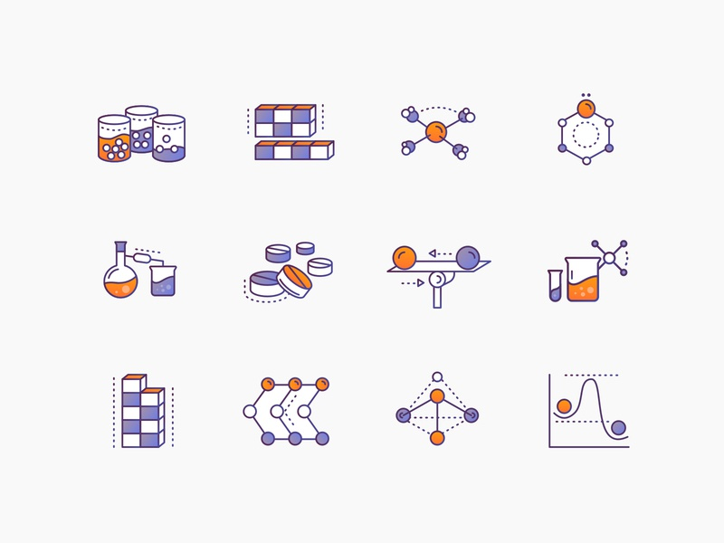 Chemistry Icons #2 brewex online education learning portal science illustration science illustration icons set icon design icons gradient icons education chemistry