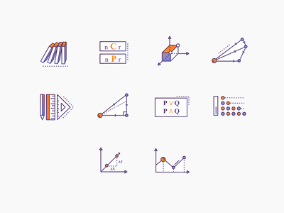 Maths Icons #2 icon illustration online education learning portal brewex maths icons icons ux ui