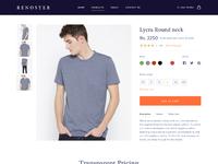 T shirt detail