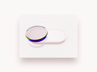 The white dispersion button
