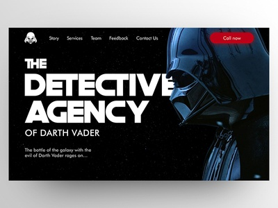 Darth Vader - The detective agency landing page design