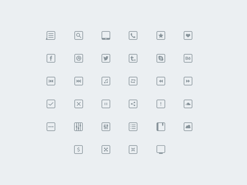 34 thinicons free psd
