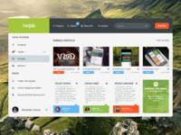 Dribbble portfolio project full size