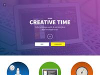 Creativetime  free psd webpage full size