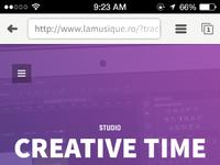 Creativetime  free psd webpage mobile