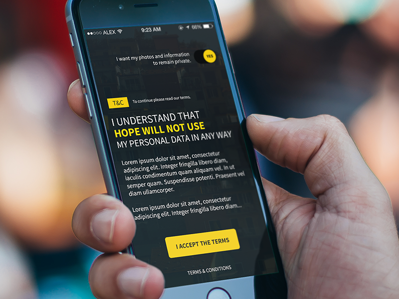 Terms and Conditions Experiment  terms and conditions terms ui ux app hope