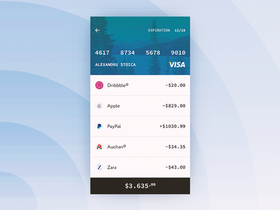 Payments Activity light screen history payment ux ui