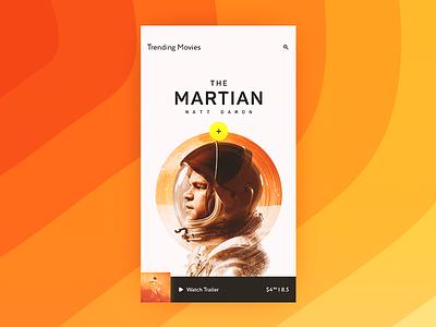 Movie Screen trailer rating the martian light cinema movie ux ui