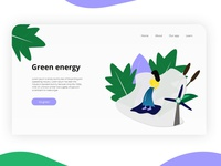 Green energy - Landing page