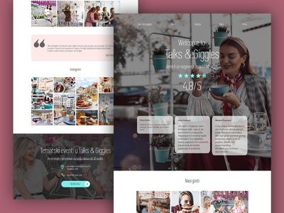 Talks & Giggles- Homepage
