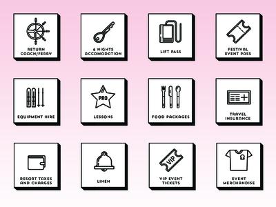 Rise Festival Icons festival icons icons set iconography