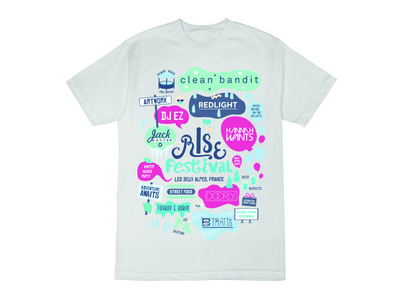 T Shirt Rise Festival merchandise typography illustration tshirt design tshirt