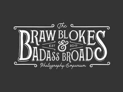 Braw Blokes & Badass Broads Photography Emporium branding illustration lettering typography signage logo steampunk