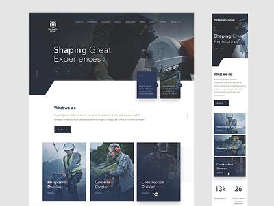 Husqvarna Website branding ui website wireframe