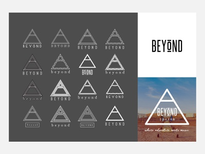 Beyond adventures branding music adventure vector logo branding