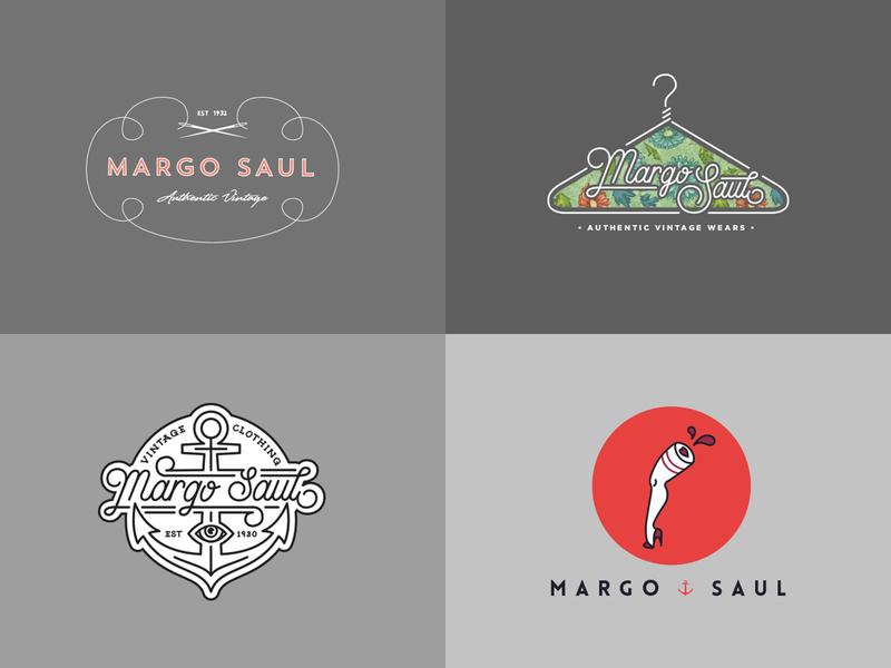 Margo saul logo concepts vintage vintage logo design logo branding
