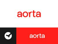 Aorta medical care doctor red alert wordmark logo wordmark blood donation blood health healthcare medical