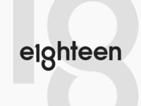 18 - Eighteen Logo Wordmark