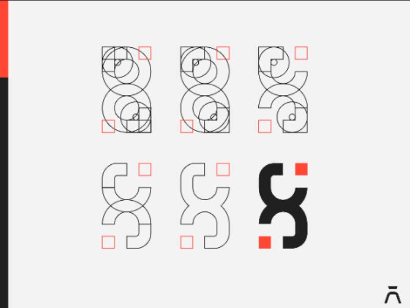 Xcnd. Logo Construction x letter x logo design logo identity hourglass logo hourglass geometric logo geometric branding brand identity brand