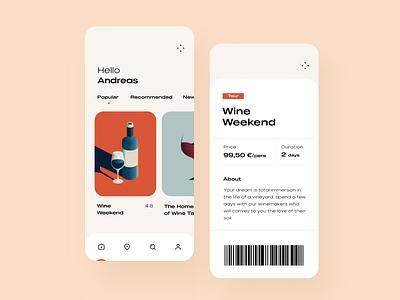 Tour Guide App illustration typography minimal design ux ui app