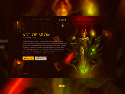 BromArt Website Concept
