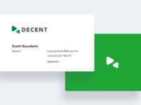 DECENT - Business cards
