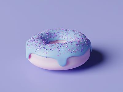 3D Donut food 3dfood illustration donut 3dvisualization 3dmodeling 3dillustration 3ddesign 3dart 3d
