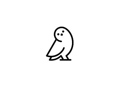Owl vector minimal flat symbol mark logo wild bird owl