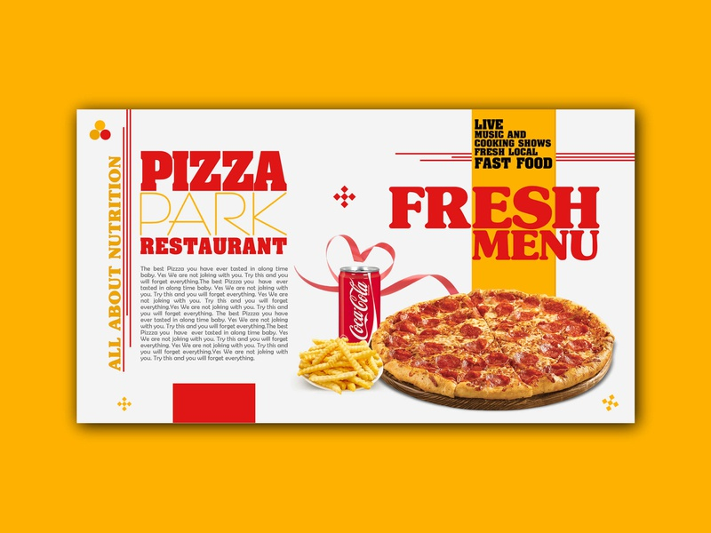 Pizza Park Restaurant banner ads banner graphic design
