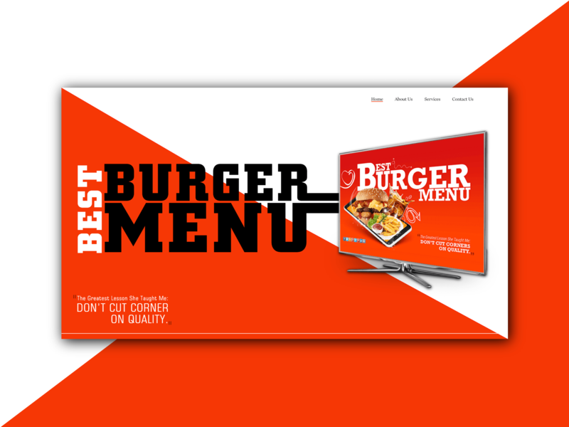 Burger Menu banner ads banner graphic design