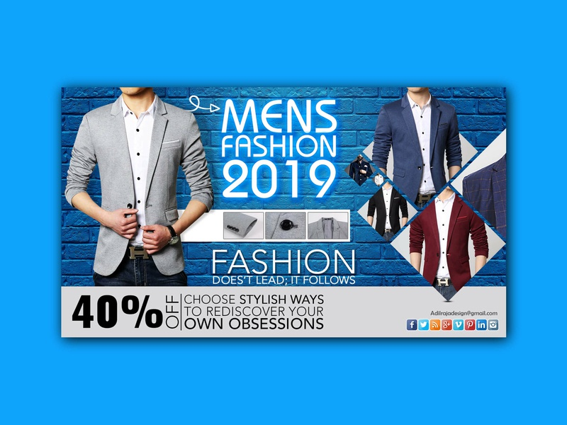 Men's Fashion 2019 banner banner ads flyer designs flyer graphic design