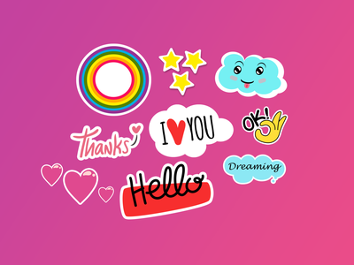Stickers Collections graphic design stickers stickers collections