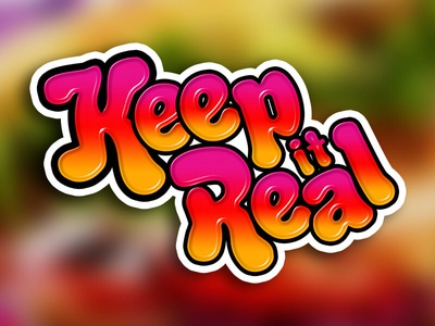 Keep It Real logo illustrator banner ads banner graphic design