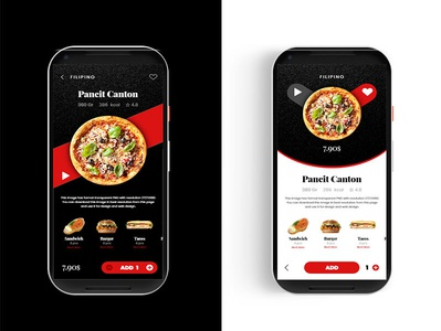 Fast Food App mobile app design mobile app mobile graphic design