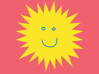 Coral Mambo - Random square #36 smiley coral mambo dariomonet dario monetini logodesign abstract art yellow red sticker doodle art doodle smile abstrac