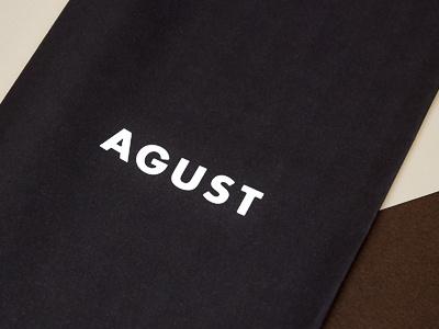 Agust coffee logo brand design branding agust coffee logo