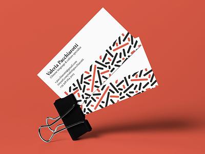 Business Card for Valeria Pacchiarotti card business card chinese language china chinese culture valeria pacchiarotti