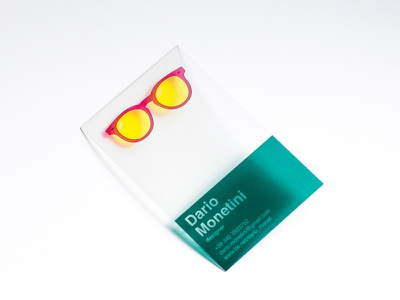 Transparent Business Card  hands on interactiv funny sunglassess plastic transparent idea identity branding business card