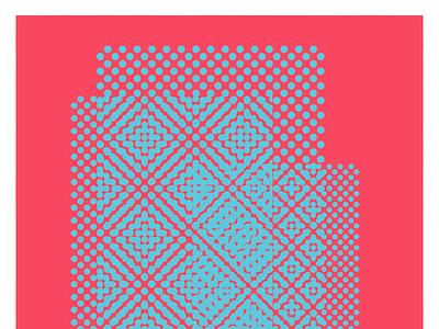 Coral Mambo - Random square #34 illustrator photoshop moirè dots gradient vector design coral mambo dariomonet illustration business card branding experiment abstract