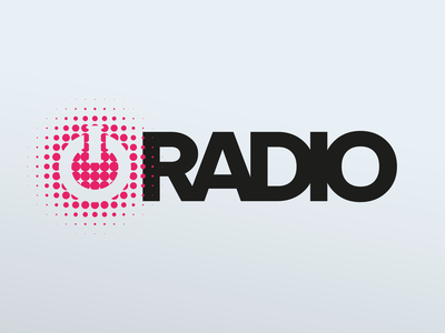 IO Radio Logo flat logodesign branding design logo