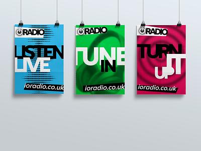 IO Radio Poster Designs vector flat typography design poster branding