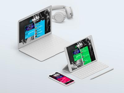 IO Radio Website radio app radio web design website web ui